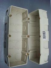 LEGRAND Sagane,,3 Triple Boite d'encastrement,Interrupteur, Prise,,Pose Vertical