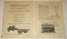 REO Heavy Duty Speedwagon Chassis * 1927 Sales Manual * Great Info & Diagrams