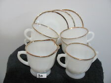 Vintage FIRE-KING Swirl  Cups & Saucer / Cream & Sugar                        30
