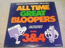 All Time Great Bloopers Uncensored Volume 3&4 2 LP Set Kermit Schafer Gatefold