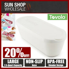 TOVOLO Large 2.5 Quart Glide-A-Scoop Ice Cream Tub Container White! RRP $49.95!