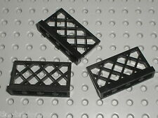 3 x Barrière LEGO black Fence ref 3185 / set 8653 6955 10211 6277 10193 6075 375
