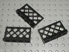 3 x Barrière LEGO black Fence ref 3185 / set 8653 6955 10211 6277 10193 6075 375