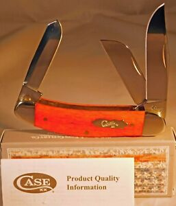 CCase XX Sowbelly Smooth Dark Red handles 3-blade pattern #TB6339 SS Pocket Knif
