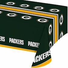 Creative Converting All Over Print Green Bay Packers Plastic Banquet Table Cover