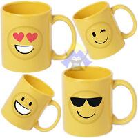 TAZZA in CERAMICA da COLAZIONE Faccine SMILE per LATTE Emoticon 400 ML Emoji MUG