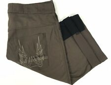 Specialized Mens Large / 36 x 15 Solid Brown Nylon Vented Stretch Cycling Shorts