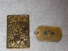 Pokemon Charizard 23K Gold Plated Card & Rare Dog Tag, Without Box, As is VHTF