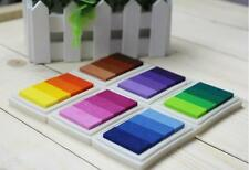 6 set  24 Color Rubber Stamps Ink Pad for Paper Fabric Wedding Finger Print