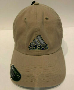 Adidas Mens Cotton Baseball Cap Ultimate Relaxed Hat One Size Brown (Khaki)