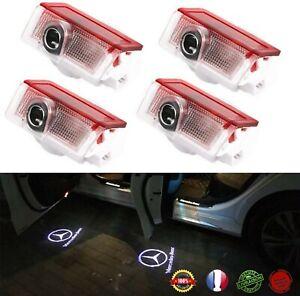 Logo Projecteur  Éclairage  Bienvenue Portes de Voiture Mercedes Lot de 4