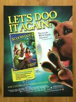 2004 Scooby Doo 2 Monsters Unleashed Print Ad/Poster Official VHS/DVD/Bluray Art