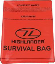 Highlander Waterproof Survival Bag with Survival Instructions ORANGE Walking