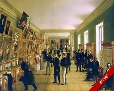 GENTLEMEN AT ART GALLERY EXPO WARSAW POLAND PAINTING ART REAL CANVAS PRINT