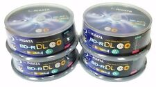 100 RIDATA 6X Blank Blu-Ray BD-R DL Dual Double Layer 50GB White Inkjet Disc
