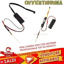 MINI CAMERA SPIA WIFI CON ANTENNA POTENZIATA 1090P IN HD MOTION DETECTION PROFES