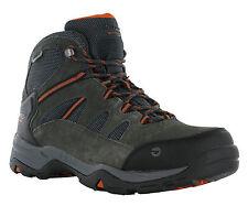 Hi-Tec Bandera II Waterproof Boot Leather Standard Fit Lace Walking Hiking Mens UK 8 Charcoal/graphite/burnt Orange