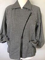 **M* ELLEN TRACY cotton wool 2-way zip jacket blazer Tank top Dress Blouse Tunic