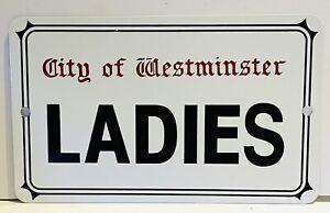Ladies City Of Westminster Toilet Metal Sign