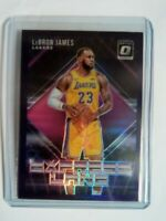 2018-19 Panini Donruss Optic James LeBron James Express Lane Purple Lakers Prizm