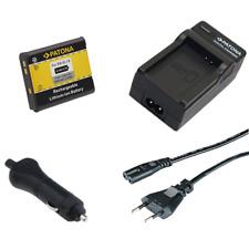 Batteria Patona + caricabatteria casa/auto per Nikon Coolpix S2550,S2600,S2700