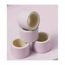 Napkin Rings, Set of 4 Faux Leather Pink