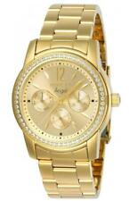 Invicta Women's Watch Angel Gold Tone Dial Yellow Gold Plated Bracelet 11770
