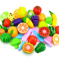 Fruit Role Play Fruit Vegetable Food Cutting Set Toy Reusable Pretend Kitchen6pc