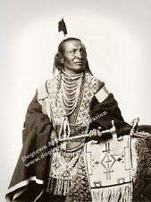 Large Reprint Vintage Native American Indian Photo CHIEF RED FOX Sioux Warrior