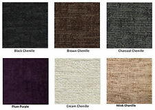 CHENILLE SAMPLE SWATCH FOR BED FRAMES, 6 COLOURS - BED FRAME ONLY