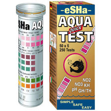 eSHa Aqua QUICK TEST  50 Strips C12 NO2 NO3 PH KH GH/TH Aquarium Fish Tank