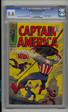 Captain America #105 CGC 9.4 NM Unrestored Marvel Batroc Swordsman CR/OW Pages