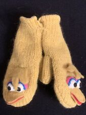 deLux Sesame Street BIG BIRD Youth Child Wool Blend Mittens Gloves