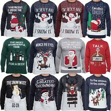 Mens Christmas Novelty Jumper Funny Greatest Snowman Xmas Sweater Top NEW