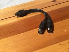 """6""""  PS2 Male to Dual Female Y Cable - PS/2 Splitter - Black"""