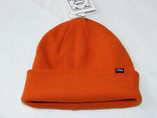 Obey Mill Beanie cuffed knit hat skull cap lid NEW 080 orange One Size NWT