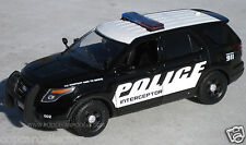 Motormax 1/24 2015 Ford PI Utility Police SUV - Ford Promo Demo Markings 76954