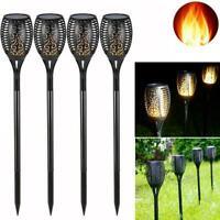 LED Flickering Flame Lights Solar Torch Lawn Garden Waterproof Outdoor Lamp K9E0