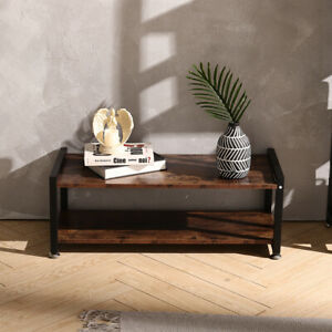 Industrial TV Stand Shelf Shoes Changing Bench Storage Rack Living Room Hallaway