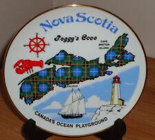 NOVA SCOTIA Peggy's Cove Collector's Plate by Hayward & Warwick LTD 22k gold