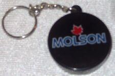 Molson Beer Hockey Puck Key Chain - Bottle Opener  NEW