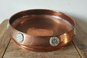 Antique Arts And Crafts Movement Copper  bowl