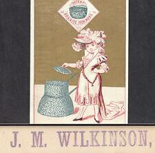 Phoenixville PA Wilkinson Hardware Main St 1800's Granite Ironware Ad Trade Card