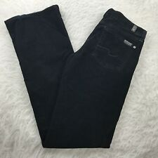 7 for all Mankind Boot Cut Corduroy Jeans Women's Sz 25 Black Cords 29x31