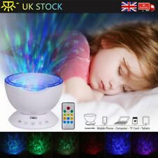 Relaxing Ocean Wave Music LED Night Lights Projector Remote Lamp Baby Sleep Gift