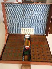 RARE Vintage Mah jong Jongg mahjong set bakelite 148 two 2 tone Green katalin
