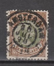 NVPH Netherlands Nederland 46 used Wilhelmina 1893 TOP CANCEL AMSTERDAM