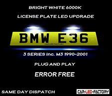 Fit BMW E36 & M3 3 Series 90-01 White LED Number Plate Light Bulb *PLUG & PLAY*