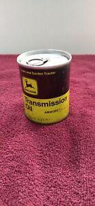 "Vintage JOHN DEERE ""TRANSMISSION OIL"" 8 oz. CAN....FULL!"