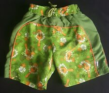 Green Hawaiian Baby Size 18 months Green Swim Shorts Guitar and Floral print